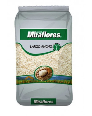 ARROZ  LARGO ANCHO Miraflores  1 Kg