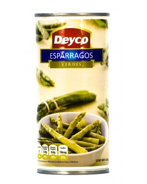 ESPARRAGO VERDE DEYCO Contenido Neto 425g Codigo A-625-1