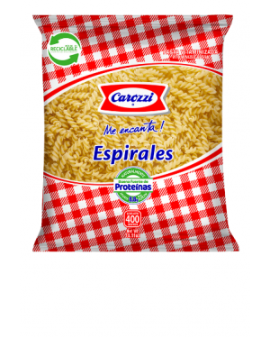 FIDEOS ESPIRALES Carozzi  400 gs