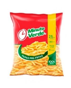 PAPAS FRITAS PRE FRITAS  Minuto Verde  2.5 kg