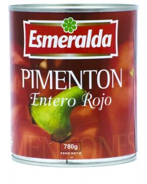PIMIENTO MORRON ENTERO ROJO ESMERALDA Contenido neto 780g Codigo A-821-1